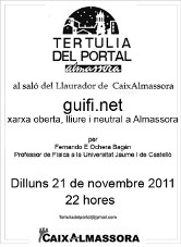 """""""guifi.net a la Tertúlia del Portal"""""""