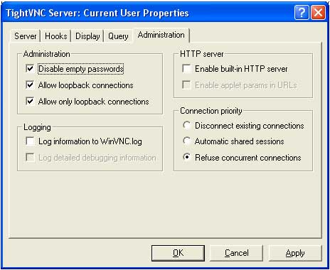 Configurando TightVNC